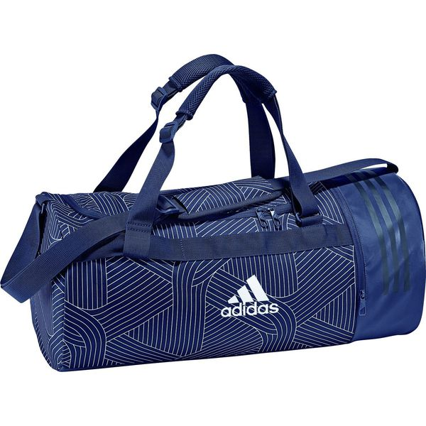 b8385f94db0b7 Adidas Torba sportowa Convertible 3 Stripes Duffel Bag Small Navy ...