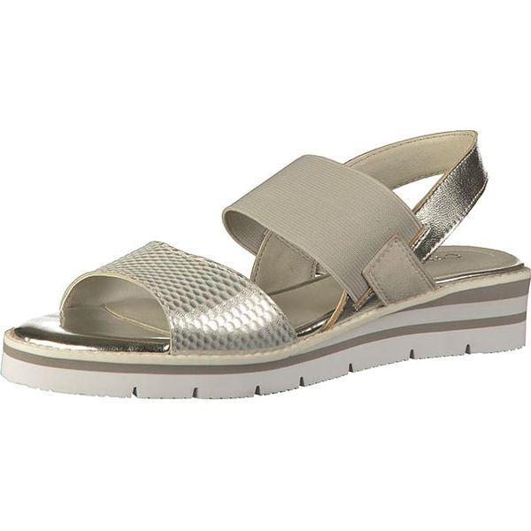pretty nice 30afc 08225 Skórzane sandały w kolorze srebrnym