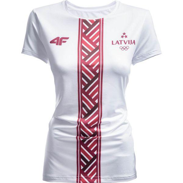 3cf34c1de Koszulka funkcyjna damska Łotwa Pyeongchang 2018 TSDF800 - biały ...